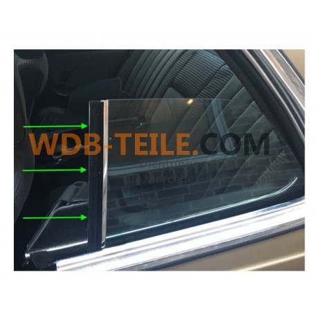 Vertical sealing gasket on the window for a Mercedes W123 C123 123 Coupé CE CD