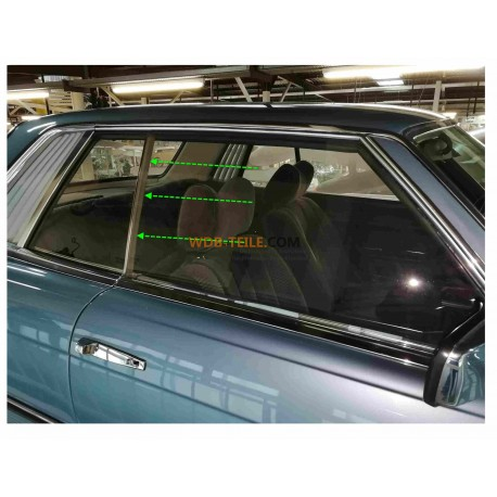 Mercedes Benz W107 C107 SLC Coupé  Vertical seal / rubber for the window A1076730224