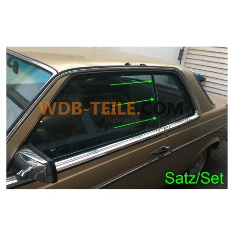 Jendela belakang segel / segel vertikal A1236730024 W123 C123 CE CD Coupé
