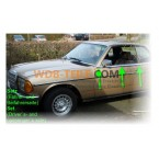 Esőszalag csepegtető szalag készlet díszlécen króm szalag vezető-utas ajtó bal és jobb W123 C123 Coupé CE CD
