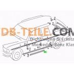 Sill ajtótömítés Vezető ajtó utasajtó tömítés W123 S123 T-típusú kombi szedán