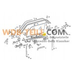 Rubber sealing rail window A1237250265 W123 C123 CE CD Coupé W107 SL SLC R107