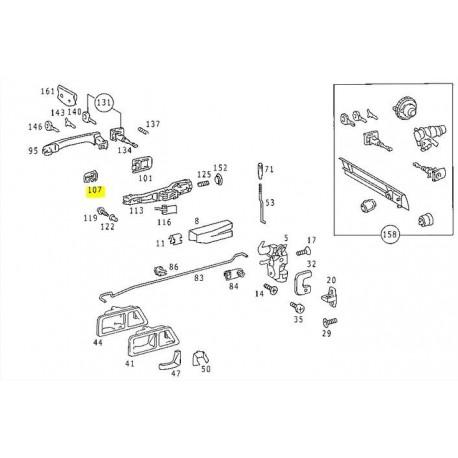 Original Door handle rubber for W201 190E 190D A2017660105 7C45