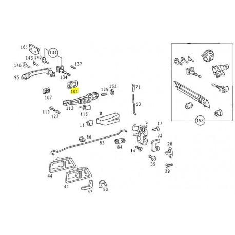 Joint d'origine pour poignée de porte pour W201 190E 190D A2017660005 7C45