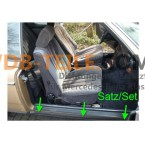 Комплект прокладок профиля порога, прокладки водительской и пассажирской двери W123 C123 CE CD Coupé Coupe