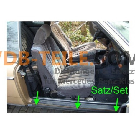 Uszczelka drzwi progowych Uszczelka drzwi pasażera W123 C123 CE CD Coupé Coupe