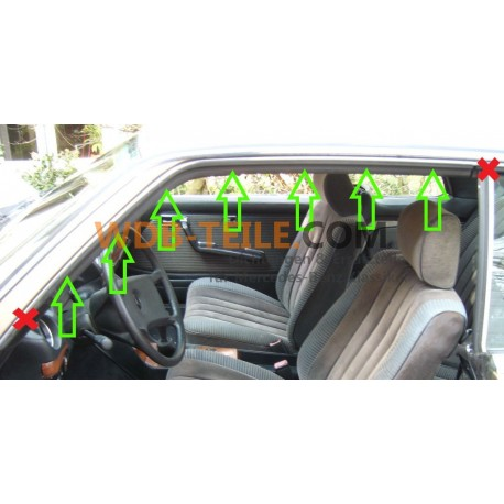 Pakning / tætningsramme AC-søjle til W123 Coupe CE C123_1