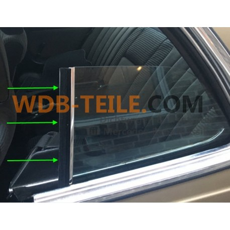 Original OEM lodret tætningspakning på vinduet til en Mercedes W123 C123 123 Coupé CE CD