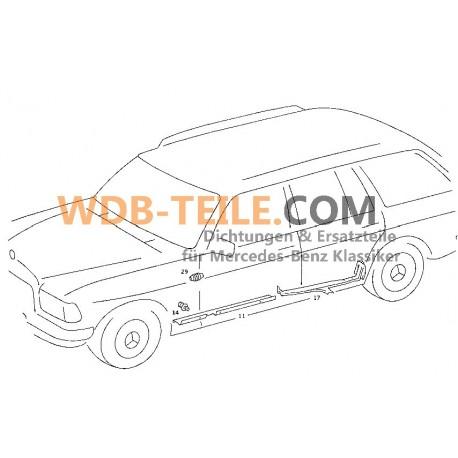 OE Mercedes Benz غطاء خرطوم حماية خرطوم الباب W123 W201 W126 A1268210397