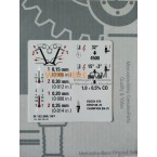 Etichetă informațională OE autocolant autocolant joc supapă motor M102 W123 A1025840640