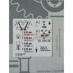 Etiqueta de informações do OE, etiqueta do adesivo, folga da válvula do motor M102 W123 A1025840640