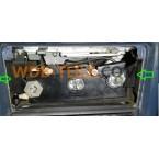 Caja de calentador de soporte de soporte Mercedes original A1238330714 W123, C123, Coupe, CE, Limousine, T, TE, Kombi