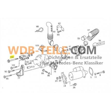Parafuso de fixação original para suporte do alternador W123, W201, W124, C124, C123, W460, W461, M102 230 CE CD Coupé TE