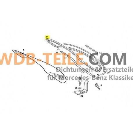 Ramka uszczelniająca uszczelka szyby tylnej W123 C123 Coupe CE CD A1236700539