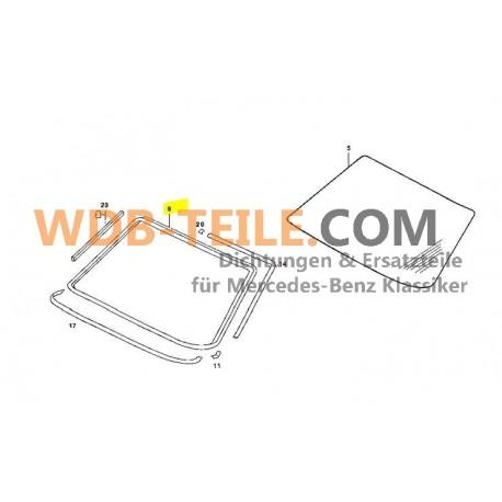 Bingkai penyegel asli kaca depan kaca depan segel W123 C123 Coupe CE CD A1236700339