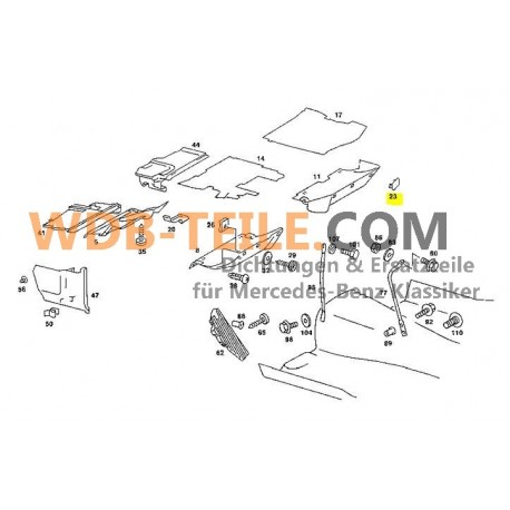 Oryginalna zaślepka deski rozdzielczej W123 S123 TE CE CD Coupé A1239880035
