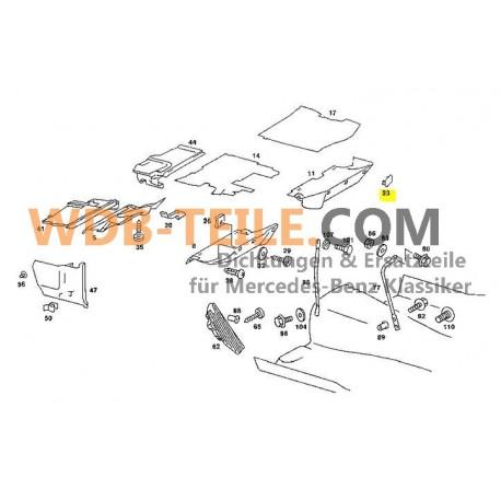 Painel da tampa original W123 S123 TE CE CD Coupé A1239880035