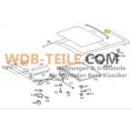 Vedação traseira do selo do teto solar original W123 CE W126 SEC Coupé A1237820398