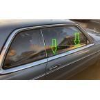 Mercedes Benz tätningsskena tätningsfönsteraxel A1237250265 W123 C123 CE CD Coupé W107 SL SLC R107