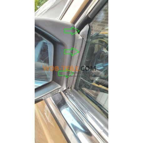 Tiivistystiiviste FE-juoksukiskon peilikolmio kulkuväylän ikkunakisko W123 C123 Coupe CE CD A1237200117