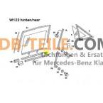 Mercedes Benz tätningsskena tätningsfönsteraxel A1267250365 W123 S123 W126