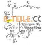 Reservatório de fluido de freio com tampa protetora Mercedes Benz W123 W201 W126 W124 e muito mais. A0004319087