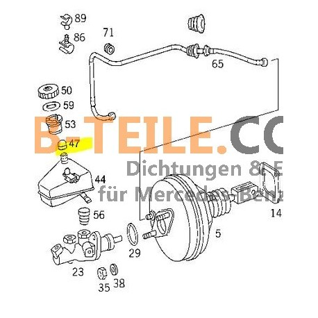 Mercedes Benz suojakorkin jarrunestesäiliön säiliö W123 W201 W126 W124 ja paljon muuta. A0004319087