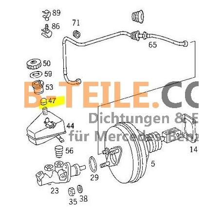 Nakrętka ochronna zbiornika płynu hamulcowego Mercedes Benz W123 W201 W126 W124 i wiele więcej. A0004319087
