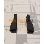 Set of cover caps / end pieces for sill seals W123 S123 sedan T-model driver and passenger side