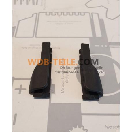 Satz Abdeckkappen/Endstücke für Schwellerdichtungen Schweller W123 S123 Limousine T-Modell Fahrer- und Beifahrerseite
