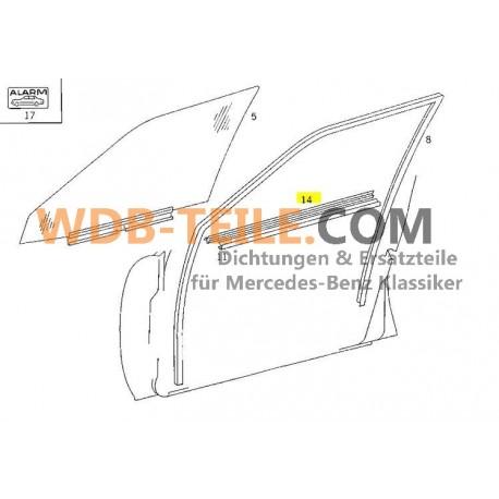 Mercedes tätningsskena tätningsfönsteraxel FE-löpskena W124 S124 sedan Kombi T TE A1247250165