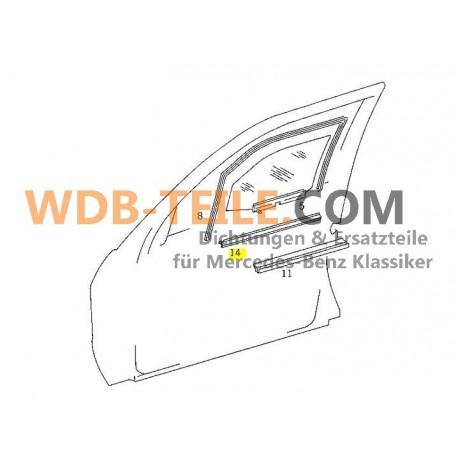 Mercedes tätningsskena tätningsfönsteraxel utanför W201 190E 190D A2017250565