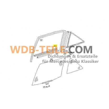 Oryginalna uszczelka listwy uszczelniającej Mercedes wału szyby tylna prawa zewnętrzna W124 sedan A1247350265