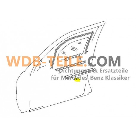 Originele Mercedes afdichtingsrailafdichting voorzijde binnen W201 190E 190D A2017250365