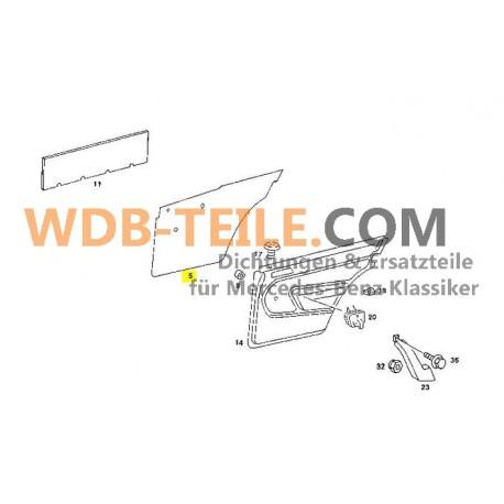 Origineel Mercedes afsluitdeksel folie deur achterzijde voor W201 190 190E 190D A2017370087