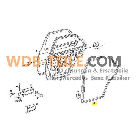 Dörrtätning bak till höger för Mercedes W201 190 190E 190D