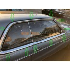 Complete set of covers and rain strips on chrome strips W123 C123 CE CD Coupe