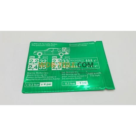 Etikett för däcktryck W124 C124 S124 A1245842639