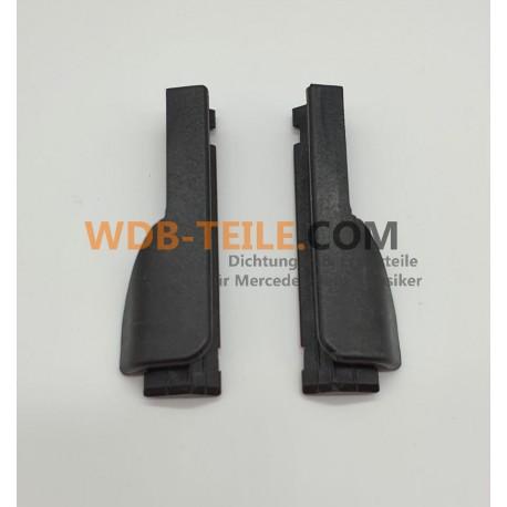 Juego de tapas de cubierta / piezas terminales para sellos de umbral, umbral W123 S123 Sedán modelo T del lado del conductor y