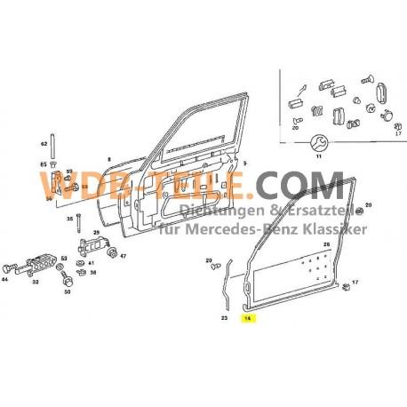 Mercedes-Benz ajtótömítés az első bal W123 szedán tömítő keret ajtótömítés A1237201578