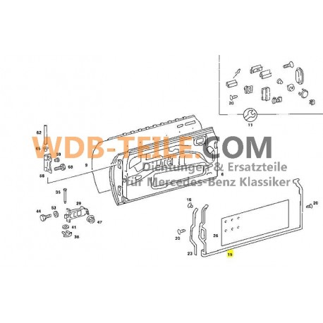 Set deurrubbers van OE kwaliteit W123 Coupe CE CD A1237201178 A1237201278
