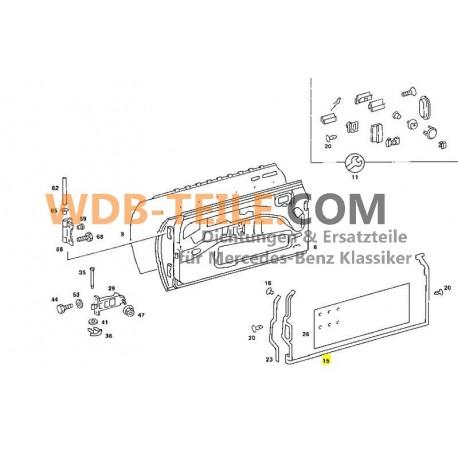 Zestaw oryginalnych uszczelek drzwi wczesnych W123 Coupe CE CD modele A1237200578 A1237200678