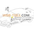Alkuperäinen Mercedes Benz letkun suojaletku W126 SE SEL W201 190E 190D W460 1268210297