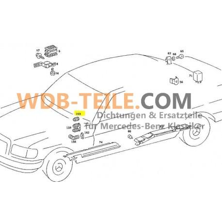 Original Mercedes Benz slangskyddsslang W126 SE SEL W201 190E 190D W460 1268210297
