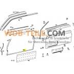 OE品質のドアシールのセットW114クーペCCE A1157200578 A1157200678