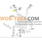 Asli grommet karet lengan penyegelan leher pengisi bahan bakar A1239973581 W123 C123 CE CD Coupé