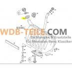 Original gennemføring af gummimuffe, der forsegler brændstofpåfyldningshals A1239973581 W123 C123 CE CD Coupé