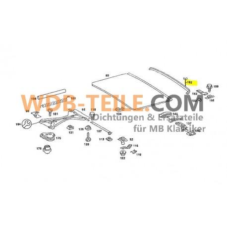 Joint de toit ouvrant d'origine Joint arrière W123 W116 W115 W114 A1157820198